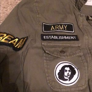 Velvet by Graham /& Spencer Andreea Patch Cotton Army Jacket